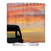 Sunset With The Van Shower Curtain