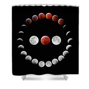 Super Blood Wolf Moon Eclipse Shower Curtain