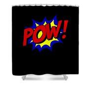 Superhero Pow Shower Curtain