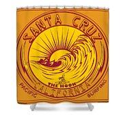Surfing Santa Cruz California Steamer Lane Shower Curtain
