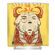 Surreal Cat Shower Curtain by Sotuland Art