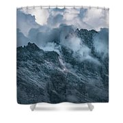 Surrounded By Morning Clouds Shower Curtain by Jaroslaw Blaminsky