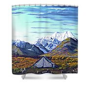 Susitna River Camp Shower Curtain
