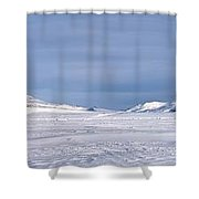Svalbard Panorama Shower Curtain