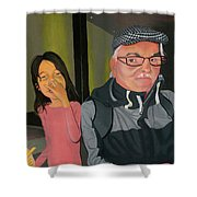 Swedish Gent With French-fry Monster Shower Curtain