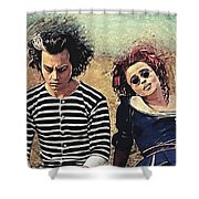 Sweeney Todd And Mrs. Lovett Shower Curtain