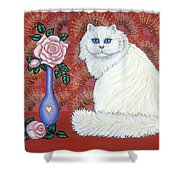 Sweetheart Cat Shower Curtain