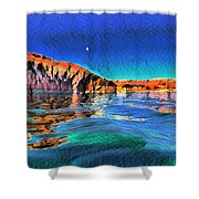 Swells And Reflections Lake Powell Shower Curtain