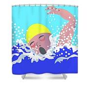 Swimmer Shower Curtain