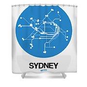 Sydney Blue Subway Map Shower Curtain