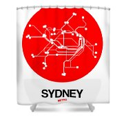 Sydney Red Subway Map Shower Curtain