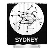 Sydney White Subway Map Shower Curtain
