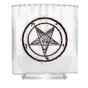Symbol Of The Occult Shower Curtain