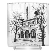 T C Powers Mansion Helena Montana Shower Curtain