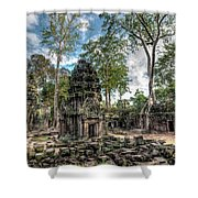 Ta Prohm Temple Inside Angkor Complex, Cambodia. Shower Curtain