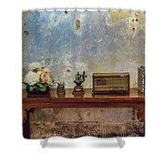 Table Of History Shower Curtain