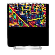 Table Soccer Sport Fan Design Colored Shower Curtain