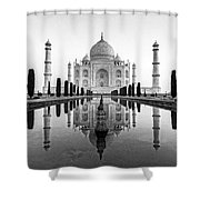 Taj Mahal In Black And White Shower Curtain