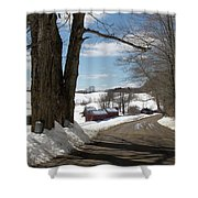 Take A Ride Down To The Jenne Farm Shower Curtain by Jeff Folger