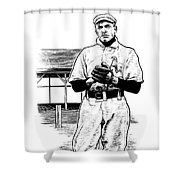 Take Me Out To The Ballgame Shower Curtain by Clint Hansen