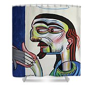 Take My Hand Shower Curtain by Anthony Falbo