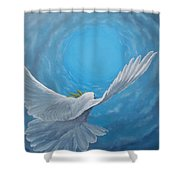 Take The Space Between Us Shower Curtain by Kevin Daly