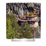 Taktsang Monastery  Shower Curtain