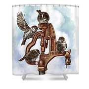 Talk Around The Watercooler Shower Curtain
