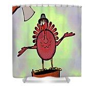 Talking Turkey Shower Curtain