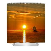 Tall Ships Of The Caribbean Shower Curtain