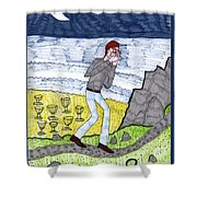 Tarot Of The Younger Self Eight Of Cups Shower Curtain