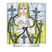 Tarot Of The Younger Self Eight Of Swords Shower Curtain
