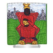 Tarot Of The Younger Self Four Of Pentacles Shower Curtain