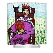 Tarot Of The Younger Self King Of Pentacles Shower Curtain