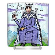 Tarot Of The Younger Self King Of Swords Shower Curtain