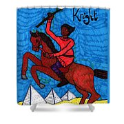 Tarot Of The Younger Self Knight Of Wands Shower Curtain