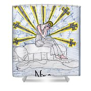 Tarot Of The Younger Self Nine Of Swords Shower Curtain