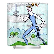 Tarot Of The Younger Self Queen Of Swords Shower Curtain