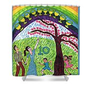 Tarot Of The Younger Self Ten Of Cups Shower Curtain