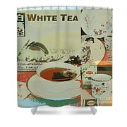 Tea Collage Poster Shower Curtain