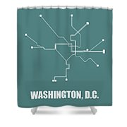Teal Washington, D.c. Subway Map Shower Curtain