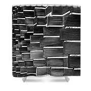 Technocratic Wall Shower Curtain by William Selander