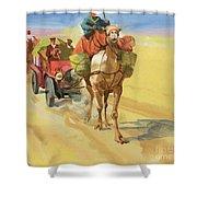 Ten Thousand Mile Motor Race Camel Train Shower Curtain