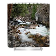 Tenaya Creek, Yosemite National Park Shower Curtain