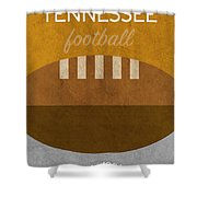 Tennessee Football Minimalist Retro Sports Poster Series 004 Shower Curtain