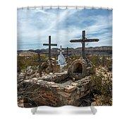 Terlingua Cemetery Shower Curtain