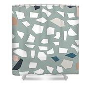 Terrazzo 1- Art By Linda Woods Shower Curtain