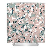 Terrazzo Splash 3- Art By Linda Woods Shower Curtain