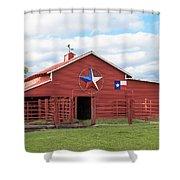 Texas Red Barn Shower Curtain by Robert Bellomy