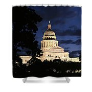 Texas State Capital Dawn Panorama Shower Curtain